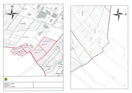 Bildvorschau der Planunterlagen des Gewerbegebiets Gansbachtal